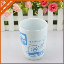china manufacturer facotry direct promotional customized simple decal white ceramic mug no handle