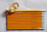 """7 """"HB yellow wood pencil with eraser pass EN71-3,ASTM4236"""