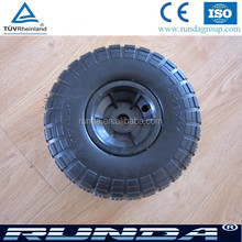 Plastic rim PU wheel 10 inch