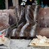 faux fur luxury European high-grade quilt throw,home furnishing long pile plush air condition blanket