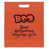 halloween Boo orange Die Cut bags-imprinted Halloween bags