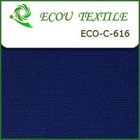 Water and oil repellent cotton canvas fabric