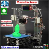 3D Metal Printer Machine Kit Chian Factory Price Reprap Prusa I3 DIY KIT LCD Screen optional Z605 3D Printer
