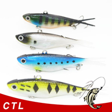 Wholesale OEM fishing gear supplier 9.7cm 22g soft vib lead fish lures Chentilly03 CS002 Soft VIBE Lure Made of TPR Fishing Bait