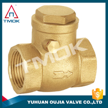 brass swing check valves low price full port and forged blasting nickel-plating pvc CE approved NPT threaded connection in TMOK