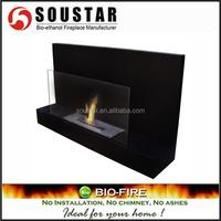 Wall mounted Ethanol resin mantel fireplace
