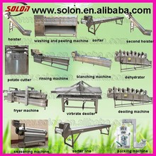 hot sale solon fesh potato chips processing line with high quality and efficiency made in china