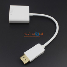 100% Brand New and High Quality DisplayPort Male DP to HDMI Female Adapter cable For HDTV 1080P for PC/TV/Laptop White