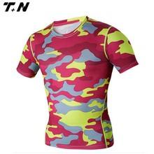 Custom lycra camo rash guard surf shirt