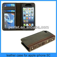 book style stand wallet Leather book cover case for iphone 5 5c 5s mobile phone