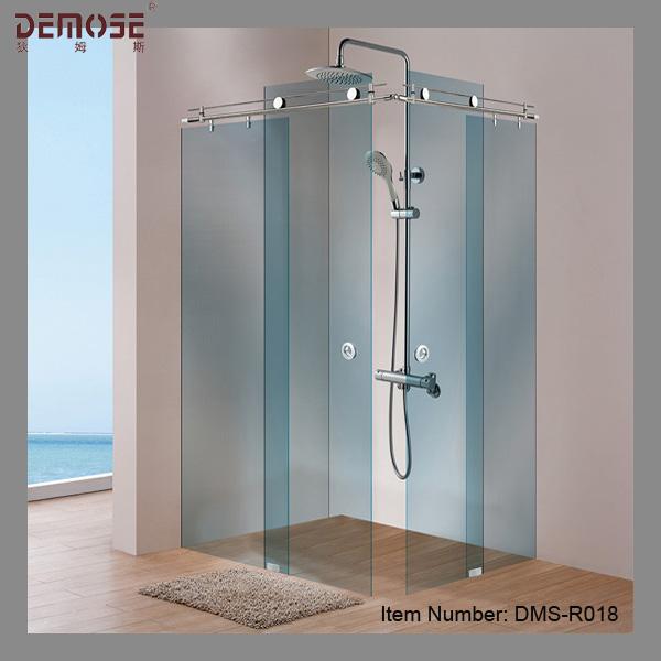 Hotel three panel sliding glass shower door hardware buy for Three panel sliding glass door