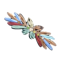 new fashion multicolor acrylic resin butterfly hairpins for woman exquisite clip hair jewelries