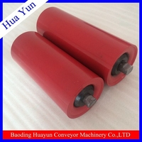 Conveyor carrier roller with wheel barrow wheel and axle for industry