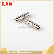 High quality nontoxic cylinder double hole garment accessories metal trims