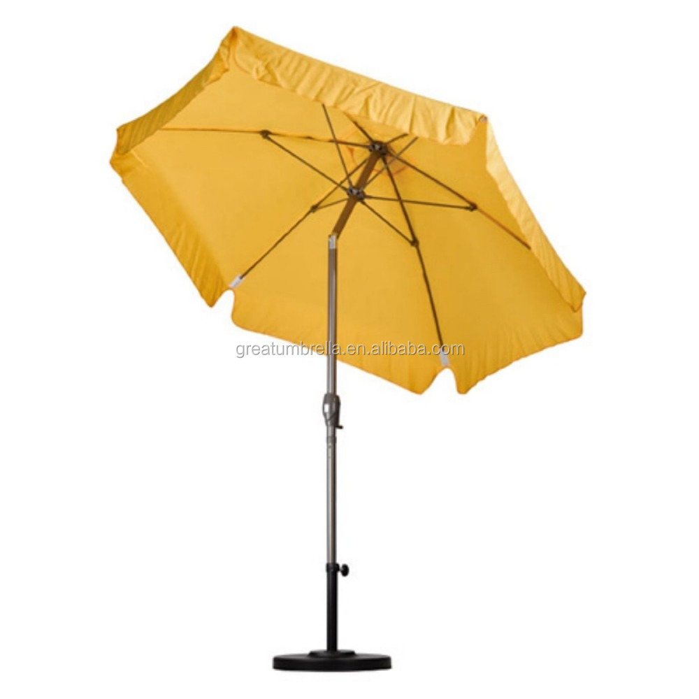 7 5 Feet Windproof Patio Umbrella With Resilient