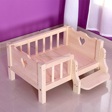 wholesale pet bed dog cat wooden bed with ladders