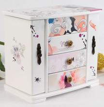 Unique Cartoon Girl Painting Modern Design Jewelry Set Box / Jewelry Storage Box / Box For Jewelry Wholesales