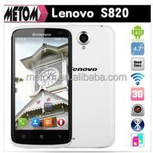 100%Original Lenovo S820 smart phone 4.7 inch IPS 1280x720 MTK6589 Quad Core 1.2 GHz 13.0MP Camera Dual Sim Bluetooth Built GPS