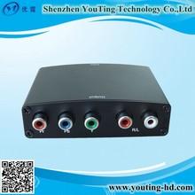 hdmi to component/5 rca audio converter