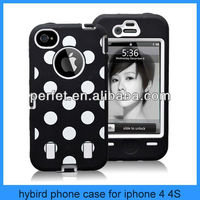 showkoo box hybird cell phone case cover for iphone 4s