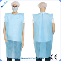 blue Nonwoven disposable surgical isolation gown for hospital/surgical usage free size