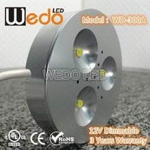 LED Puck light China 3W led cabinet lamp with UL CE RoHS furniture lighting