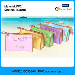 2015 wholesale transparent PVC makeup bag for Girls