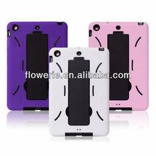 FL3224 Guangzhou 2013 hot selling shockproof heavy duty hybrid rubber case for ipad mini
