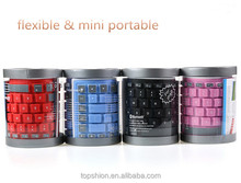 Foldable flexible silicone wireless bluetooth keyboard for iPad tablet keyboard bluetooth