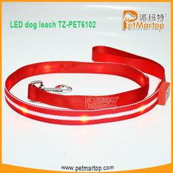 2015 High Quality Customized Soft Handle Led Dog Leash TZ-PET6102