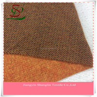 Fashion stripe wool knit fabric for winter women garment overcoat