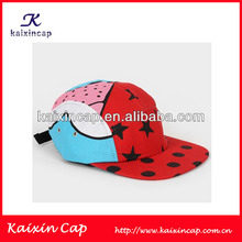 beauty kids camper cap / children 5 panel/ cartoo fashion hat 5 panel earflap