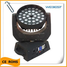 RGBW 4in1 Moving Head 36x10w Zoom Wash LED Night Club Decor