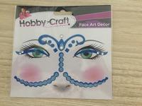 2016 Custom 3d epoxy eyes sticker waterproof temporary eyebrows tattoos