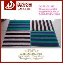 Double Color Stripe Pvc Floor Mat