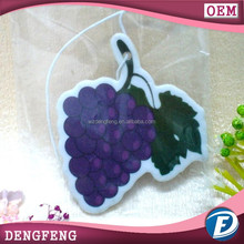 grape shape car perfume or paper air freshener with grape scent