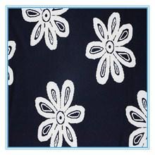 New design sunflower printed knitting fabric for women's coat