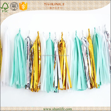 Wholesale Hanging Foil tassels wedding hall decorations