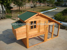 Wooden Chicken Coop With Run Cage