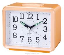 Bell Beep Square Quartz Alarm Clock for elderly