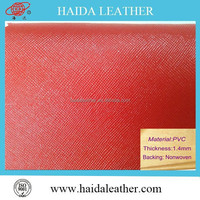 Hot sell PVC PU leather stock lot with cheaper price
