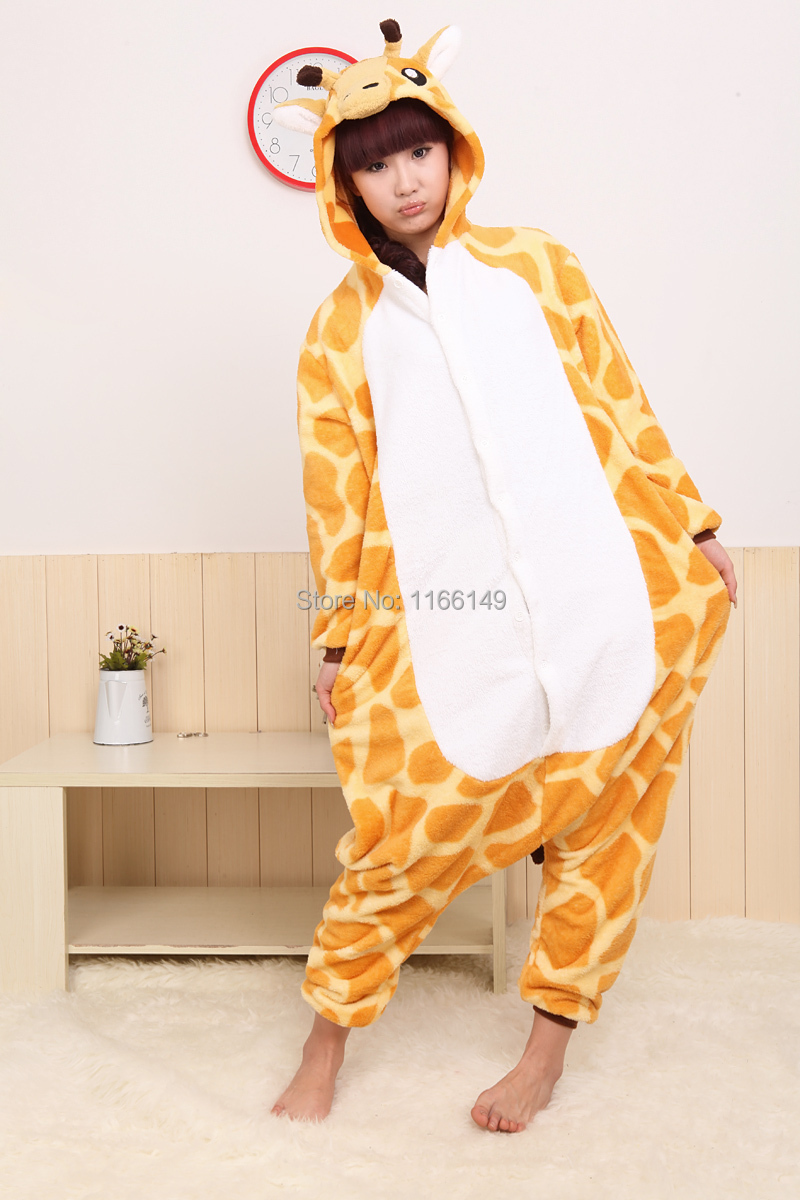 Giraffe Onesies Pajamas Cartoon Animal  costume onesies Pyjamas Unisex pijamas  ,sleepwear, party clothes