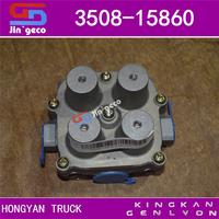 Higer KLQ6129 KLQ6125 Bus Parts Four Circuit Protection 4 way Valve