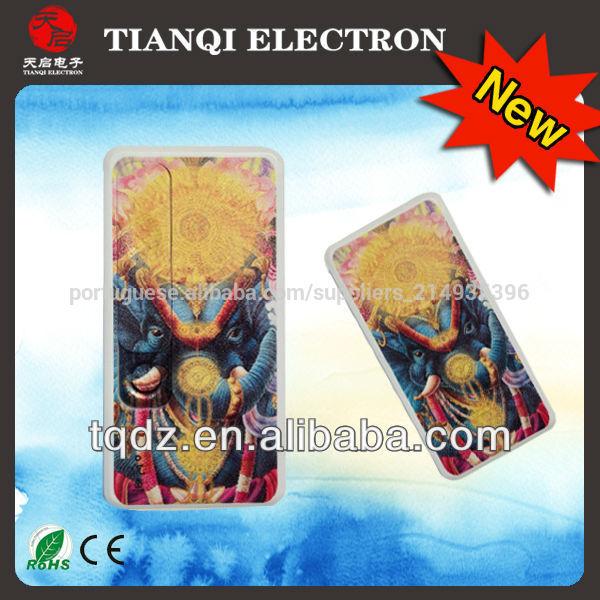 2014 presente personalizado recarregável usb isqueiro electrónico com luz led uv impressão