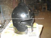 guerra barbute medieval casco, casco, casco, en forma de t, cascos, cascos antiguos cascos de metal