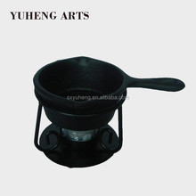 New Design Round Classical Black Cast Iron Frying Pan With Base