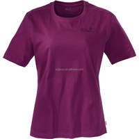 women's blank basic embroidered short sleeve t-shirt