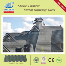 import to Indonesia colorful stone coated flat roof tiles