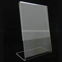 8.5 x 11 Angled Acrylic Sign holder Frames, Slant Back Styrene Sign Holder, Slanted PETG Sign Holder