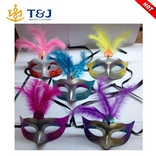 >>>>New creative fashion masquerade feather mystery funny half face mask